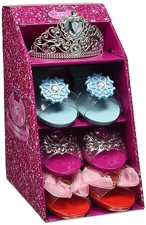 Lot de 3 paires de chaussures à talon (court) pour déguisement de princesse avec revêtement anti-dérapant et 1 diadème cSXfPa