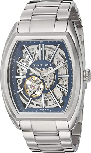 Amazon.com: Kenneth Cole New York Men's Automatic-self-Wind Watch with  Stainless-Steel Strap, Silver, 12 (Model: 10030812): Watches