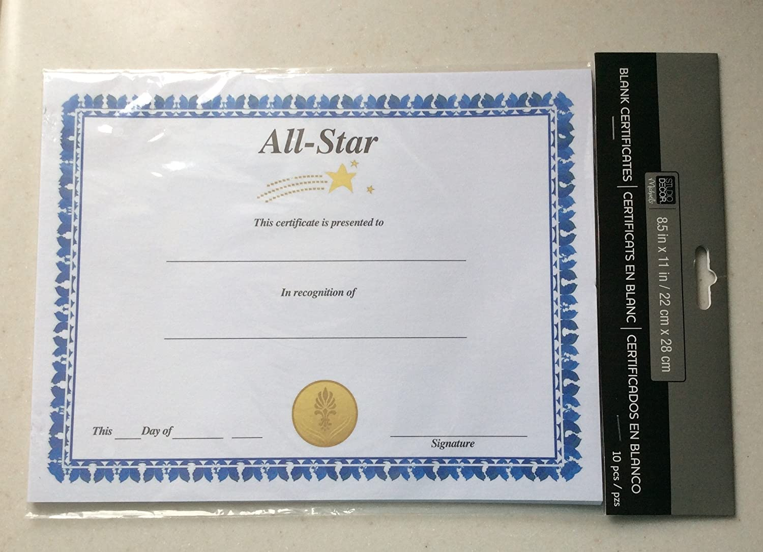 Amazon all star certificate of achievement blank 10 pack amazon all star certificate of achievement blank 10 pack 85 x 11 inches office products xflitez Gallery