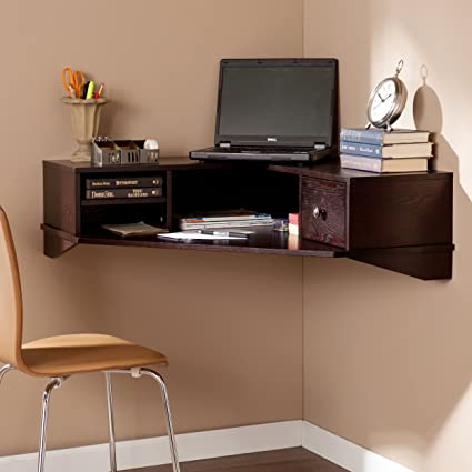 Charmant Southern Enterprises Reese Wall Mount Corner Desk