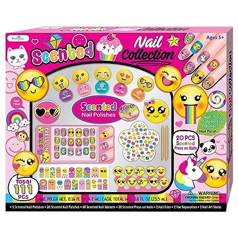 Amazon Smitco Llc Kids Nail Polish Non Toxic Emoji Nail Art