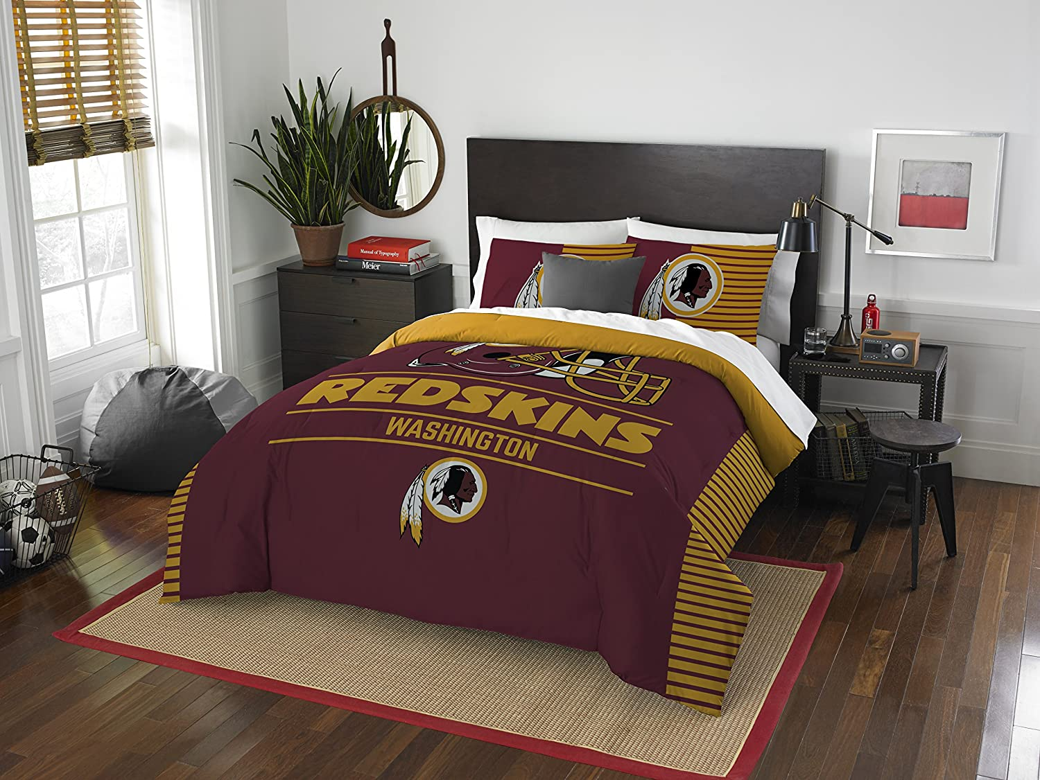 NFL Washington Redskins Draft Two Sham Set, Burgundy, Full/Queen Size