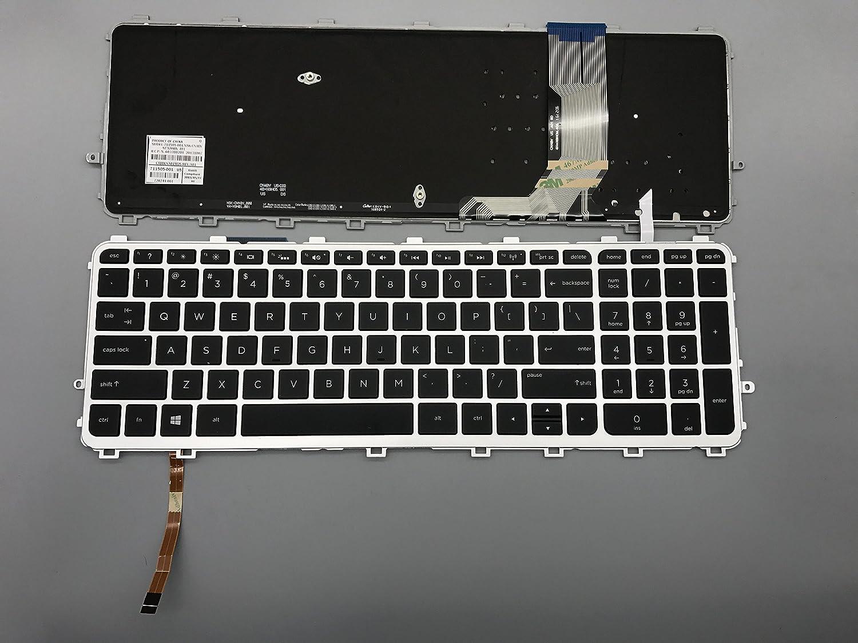 New keyboard for HP ENVY 17-J 15-j000 15-j000 15t-j000 15z-j000 17-j000 17-j000 US V140626A 97-00076-US-OC-OOR02 711505-001 NSK-CN4BV 9Z.N9HBV.401 6037B0201 Silver frame black keycap backlight 15-J
