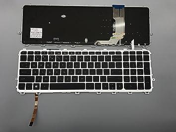 HP Envy 15-J017CL HP Envy 15-j016TX HP Envy 15-J017SG HP Envy 15-j017TX Keyboards4Laptops German Layout Silver Frame Backlit Black Windows 8 Laptop Keyboard Compatible with HP Envy 15-j015TX