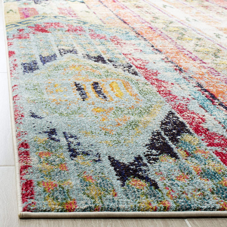 Safavieh Monaco Collection MNC222F Modern Bohemian Distressed Area Rug 10 x 14 Multi