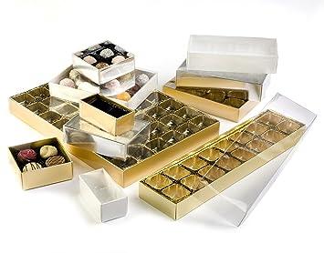 25 x cajas de regalo 4 bombones - Elección de bandeja y caja ...