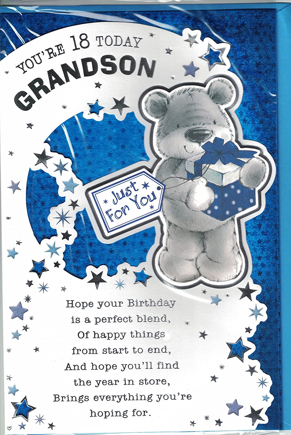 Grandson 18th birthday card youre 18 today grandson modern cute grandson 18th birthday card youre 18 today grandson modern cute 18th card amazon garden outdoors bookmarktalkfo Choice Image