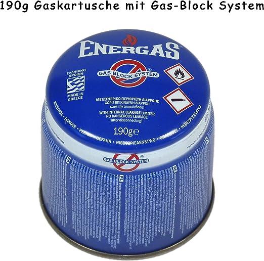 Cartucho de gas butano - Para sopletes, hornillos, cocinillas y lámparas de camping