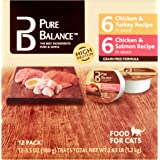 Pure Balance Canned Cat Food Cups Value Pack, 12-Pack