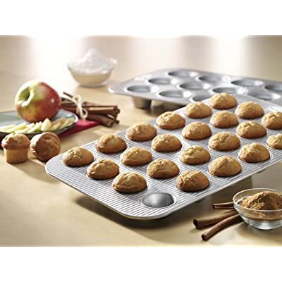 Buy USA Pan Bakeware Mini Cupcake and Muffin Pan, Nonstick Quick Release  Coating, 24-Well, Aluminized Steel Online in Bangladesh. B001IAUG4Q