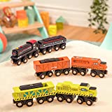 Battat - Wooden Locomotive & Freight Cars - Classic Wooden Toy Train Set with Locomotive & Cars for Kids & Collectors Aged 3 Years Old & Up