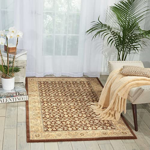 Nourison Persian Empire Chocolate Rectangle Area Rug, 2-Feet by 2-Feet 9-Inches 2 x 2 9