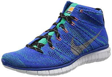 0233a8d1af9a NIKE Free Flyknit Chukka Mens Running Shoes 639700-400 Game Royal Wolf Grey -Atomic