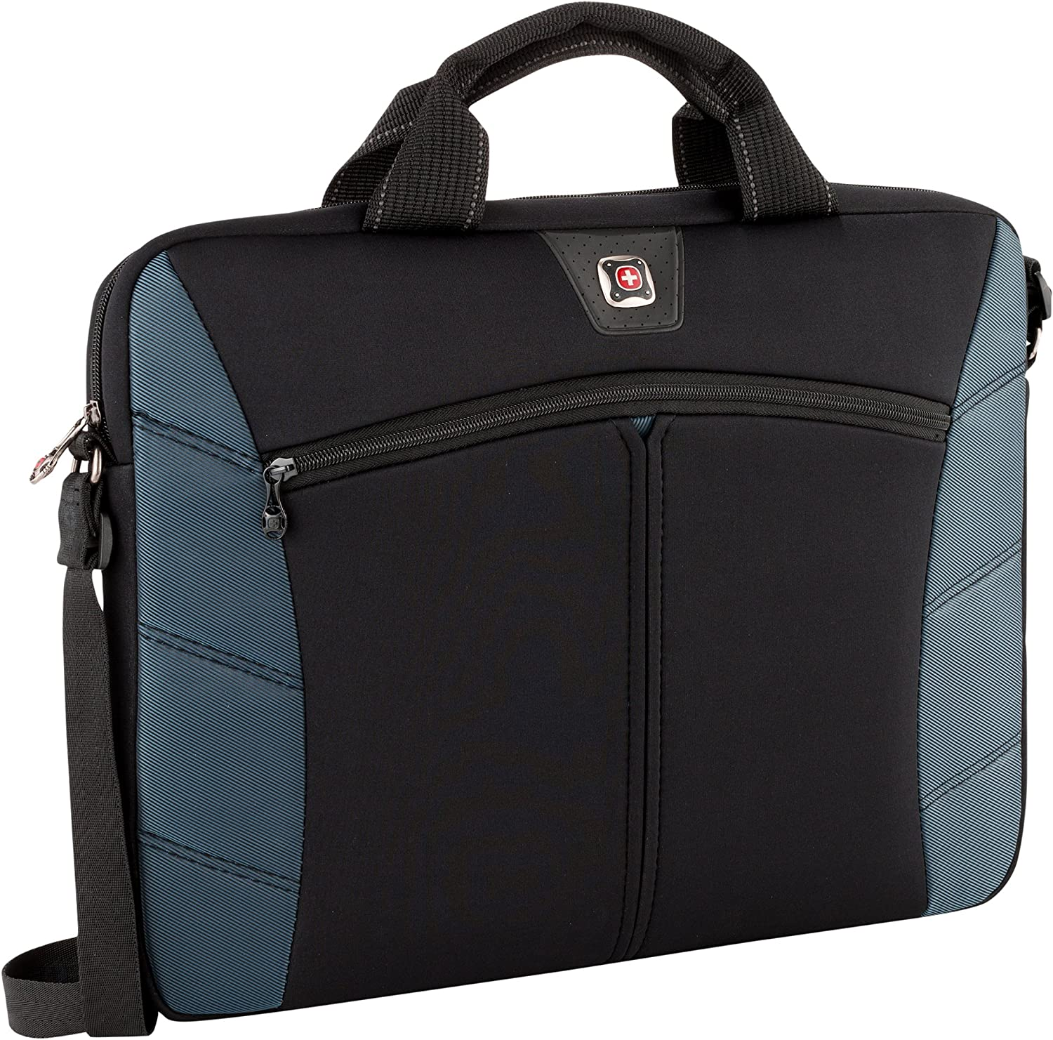SwissGear 17.3-Inch Sherpa Slim Case for Notebook, Black/Blue (GA-7501-06F00)