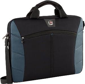 SwissGear 17.3-Inch Sherpa Slim Case for Notebook, Black/Blue (GA-7501-06F00)