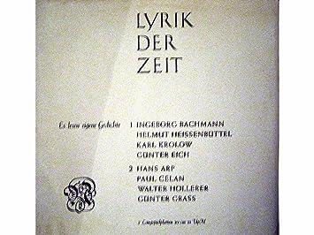 Lyrik Der Zeit 1 2 Es Lesen Eigene Gedichte Ingeborg