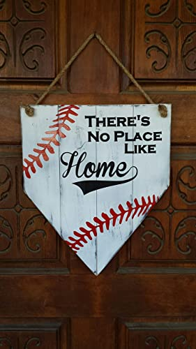 There S No Place Like Home Baseball Home Plate Painted Wood Sign Baseball Lovers D Cor
