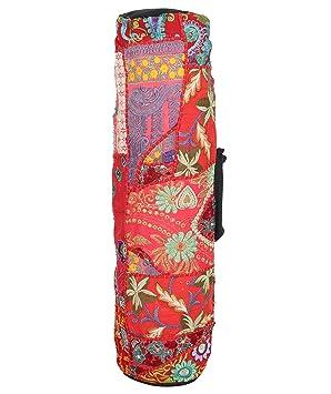 Yoga Mat Bolsa - Único Jacquard Brocade Patchwork Mat bolsas ...