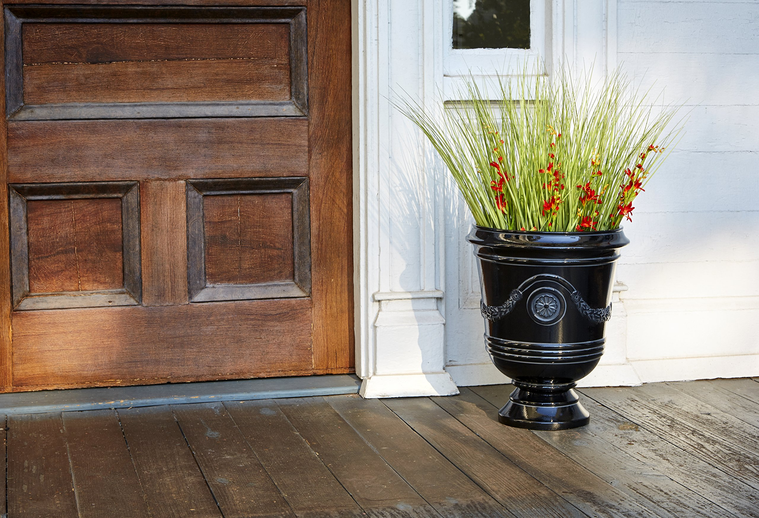 Southern Patio 15'' Diameter Porter Urn Planter, Black by Southern Patio (Image #2)
