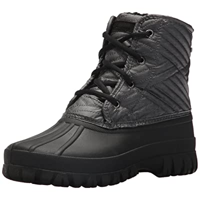 Skechers Women's Windom-Mid Quilted Winter Boot, Charcoal Black, 7 M US | Mid-Calf
