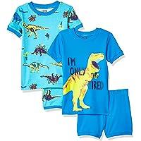 Amazon Brand – Conjunto de Pijama de algodón de 4 Piezas para bebé, niño pequeño y niño, diseño de Cebra