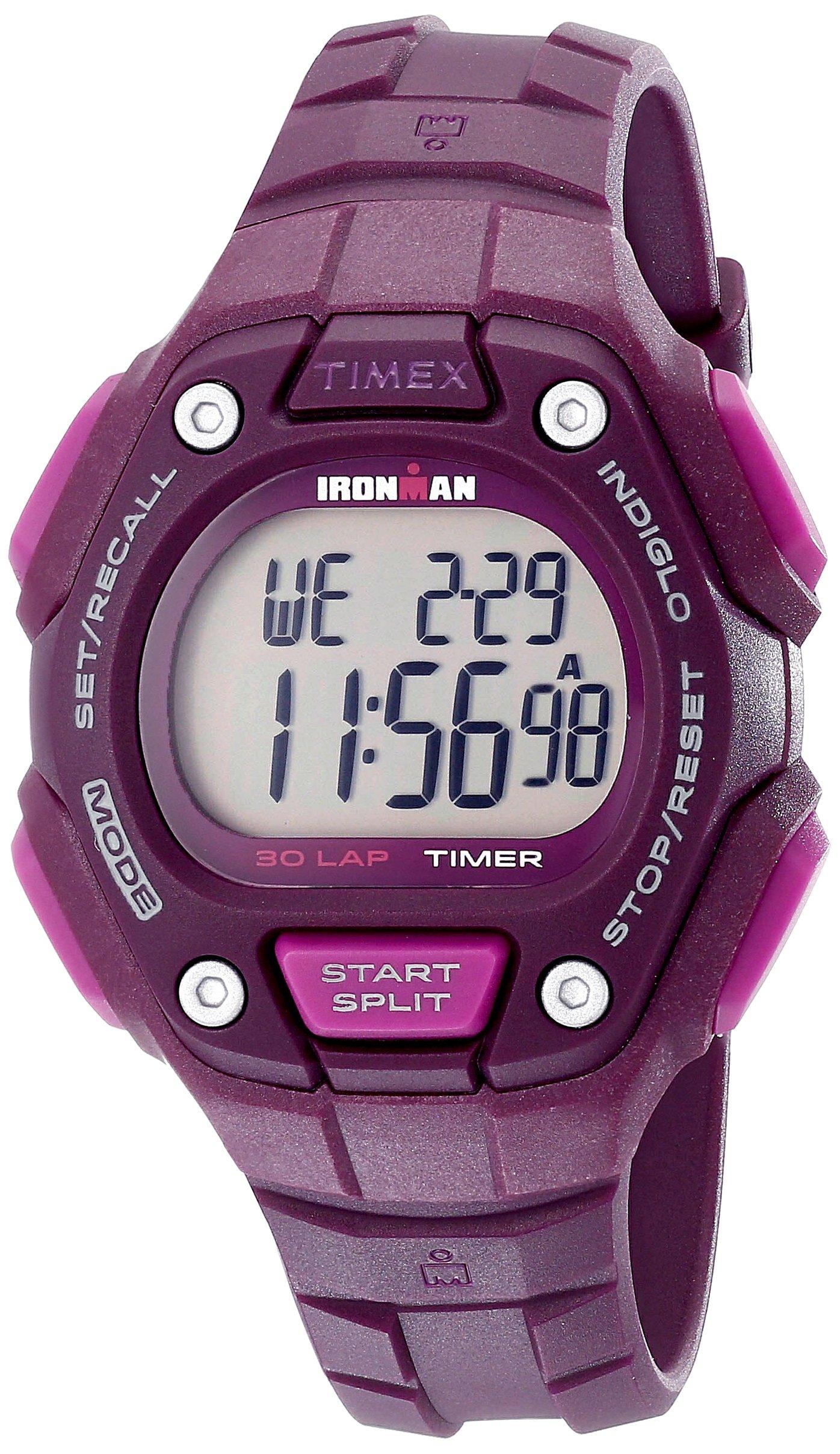 Timex Women's Ironman 30-Lap Digital Quartz Mid-Size Watch, Plum - TW5K89700 by Timex (Image #1)