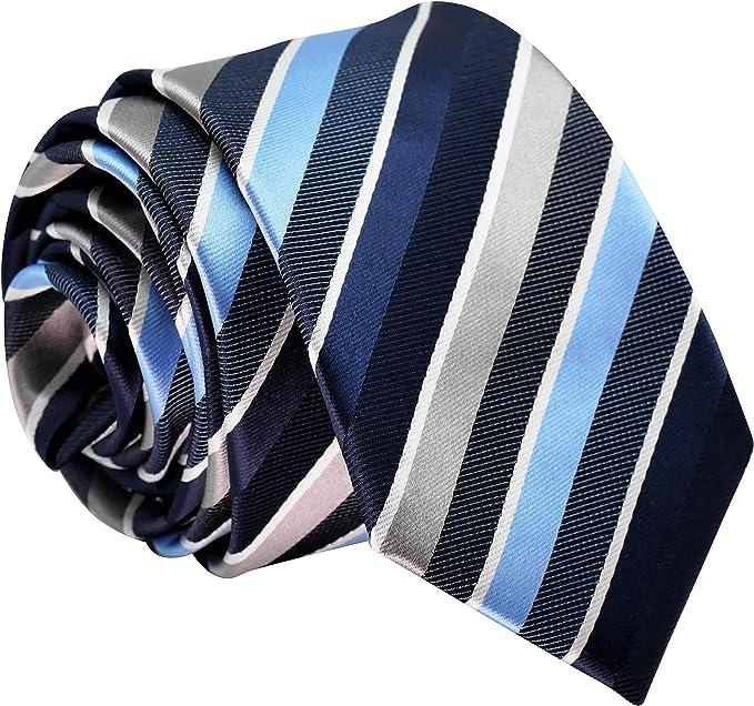 adamantita® Hombre corbata estrecha de diseños diferentes de ...