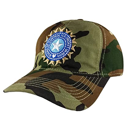 13034eea0 TyranT Indian Cricket Cap Military for Men in Blue and Army Cotton Caps |  ODI Test Ipl Indian Cricket Team Cap Free Size Adjustable Army Caps (Army  ...