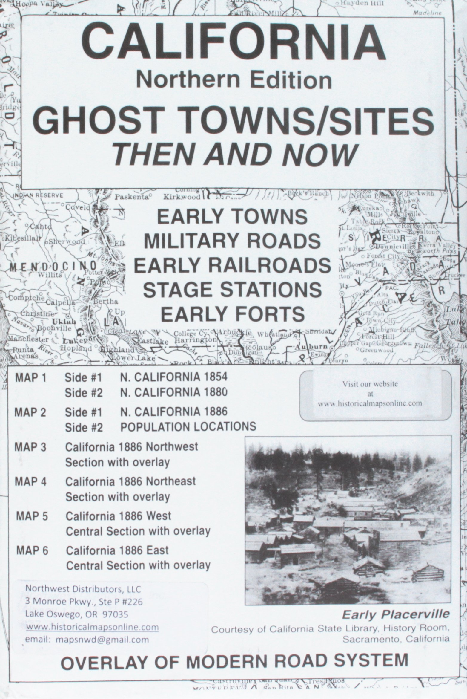 California, North Ghost;Towns 6 Maps Then & Now pdf epub