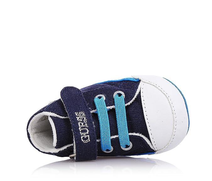 GUESS Culla blu, tessuto, con chiusura a strappo, neonato
