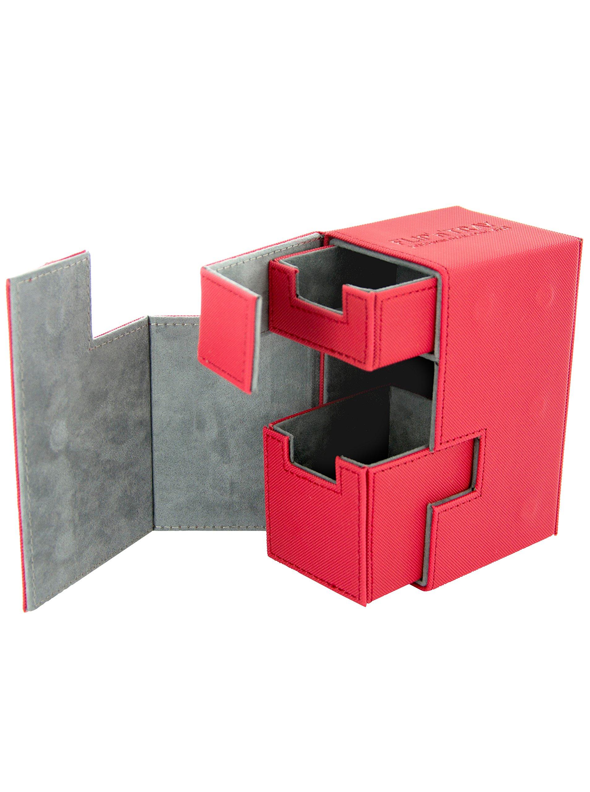 Flip 'n' Tray XenoSkin Deck Box, Red