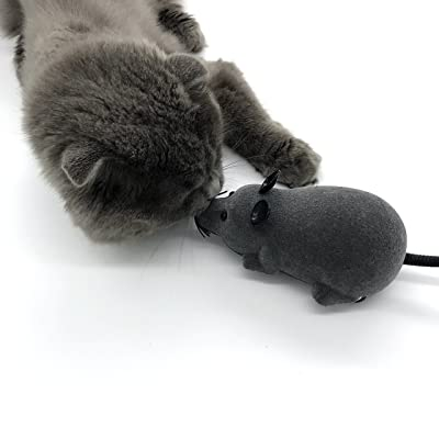 Mew Electric Remote Control Mouse Remote Control Animal Toys Pet Cat Toys Mouse