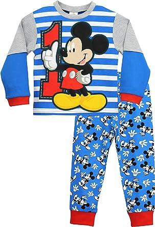 Disney Schlafanzug Jungen Mickey Mouse Pyjama Kinder Schwarz 100/% Baumwolle Kinder Schlafanzug Lang 18 Monate bis 6 Jahre Kleinkind und Baby Pyjama Lang