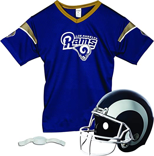 Chinstrap Helmet Franklin Sports NFL Kids Football Helmet and Jersey Set Youth M Jersey NFL Youth Football Uniform Costume