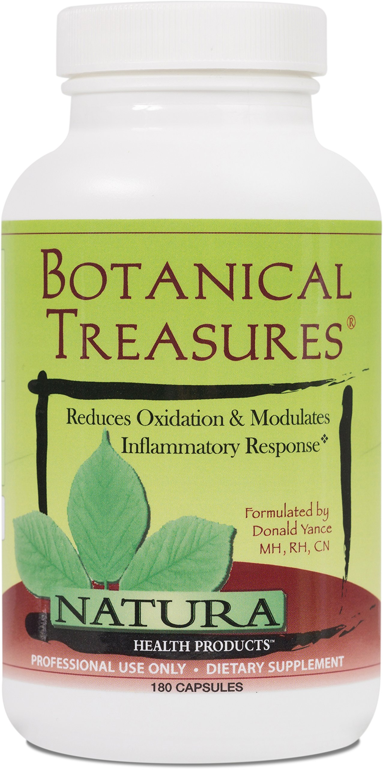 Natura Health Products - Botanical Treasures - Featuring Turmeric, Resveratrol, and Green Tea Reduces Oxidation and Modulates Inflammatory Response - 180 Capsules