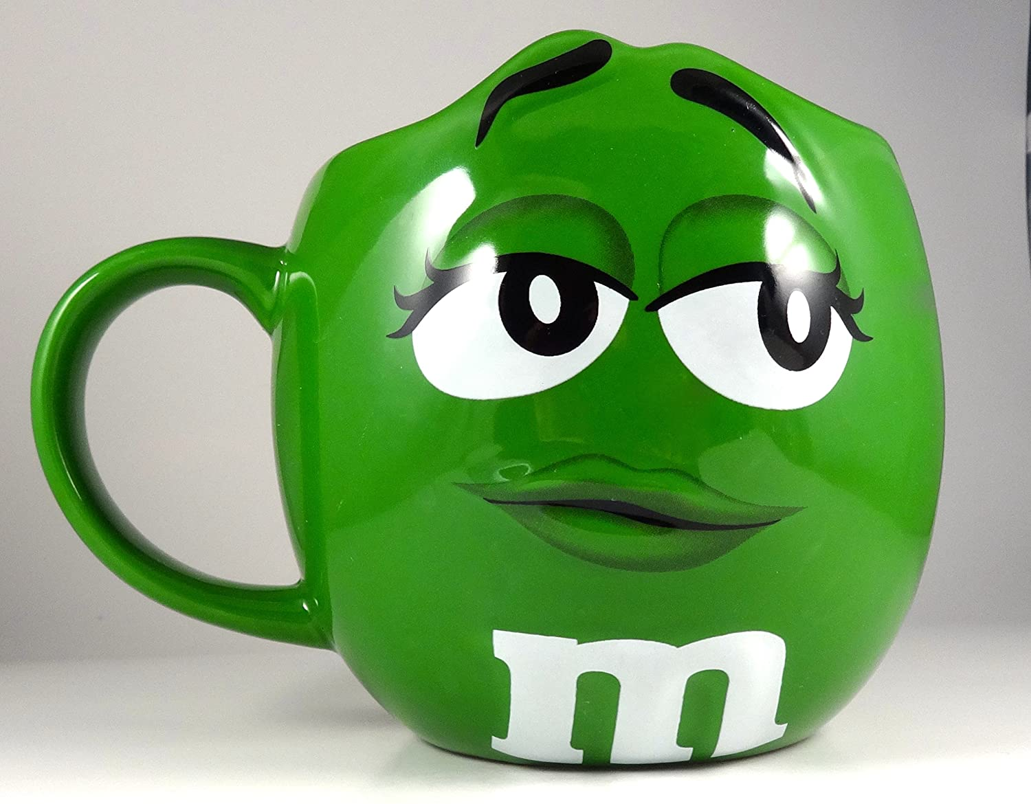 amazon com m ms fun sculpted face extra large 24 oz ceramic coffee