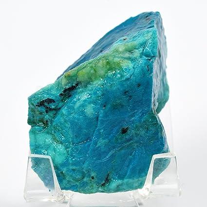 ccd8a53831 HQRP-Crystal 305 quilates de sílice azul Chrysocolla Rough Stone Natural  Gem calidad cristal cabujón