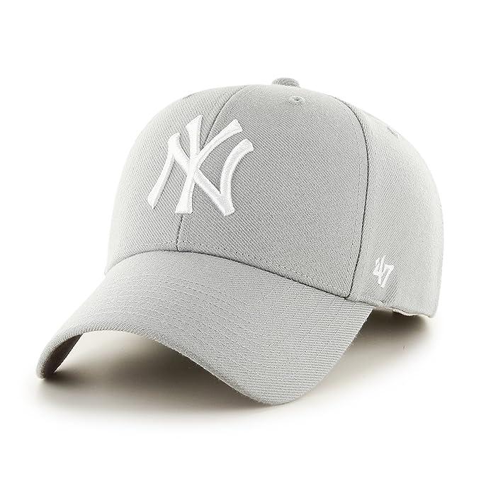 9c4ec383379bc Gorra curva gris de New York Yankees MLB de 47 Brand - Gris