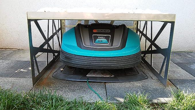 Robot cortacésped Garage/CarPort Acero Inoxidable: Amazon.es ...
