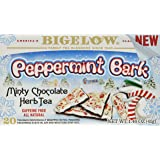 Bigelow Tea Peppermint Bark Minty Chocolate Herbal Tea, 20 Count