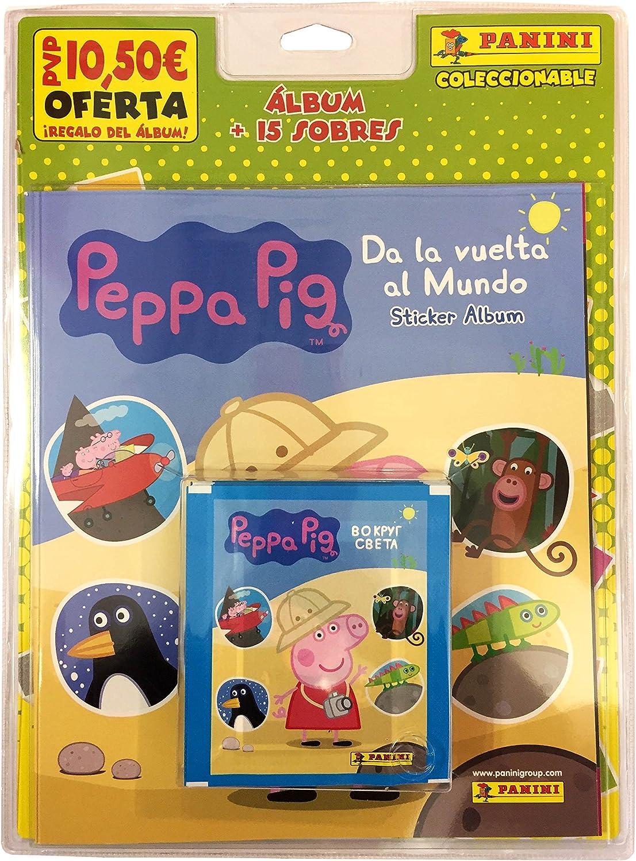 Peppa Pig - Blister, 15 sobres con álbum 2017 (Panini 003206BLIE2): Amazon.es: Juguetes y juegos