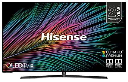 Hisense H55O8BBUK 55-Inch OLED 4K UHD HDR Smart TV with Freeview Play (2019)