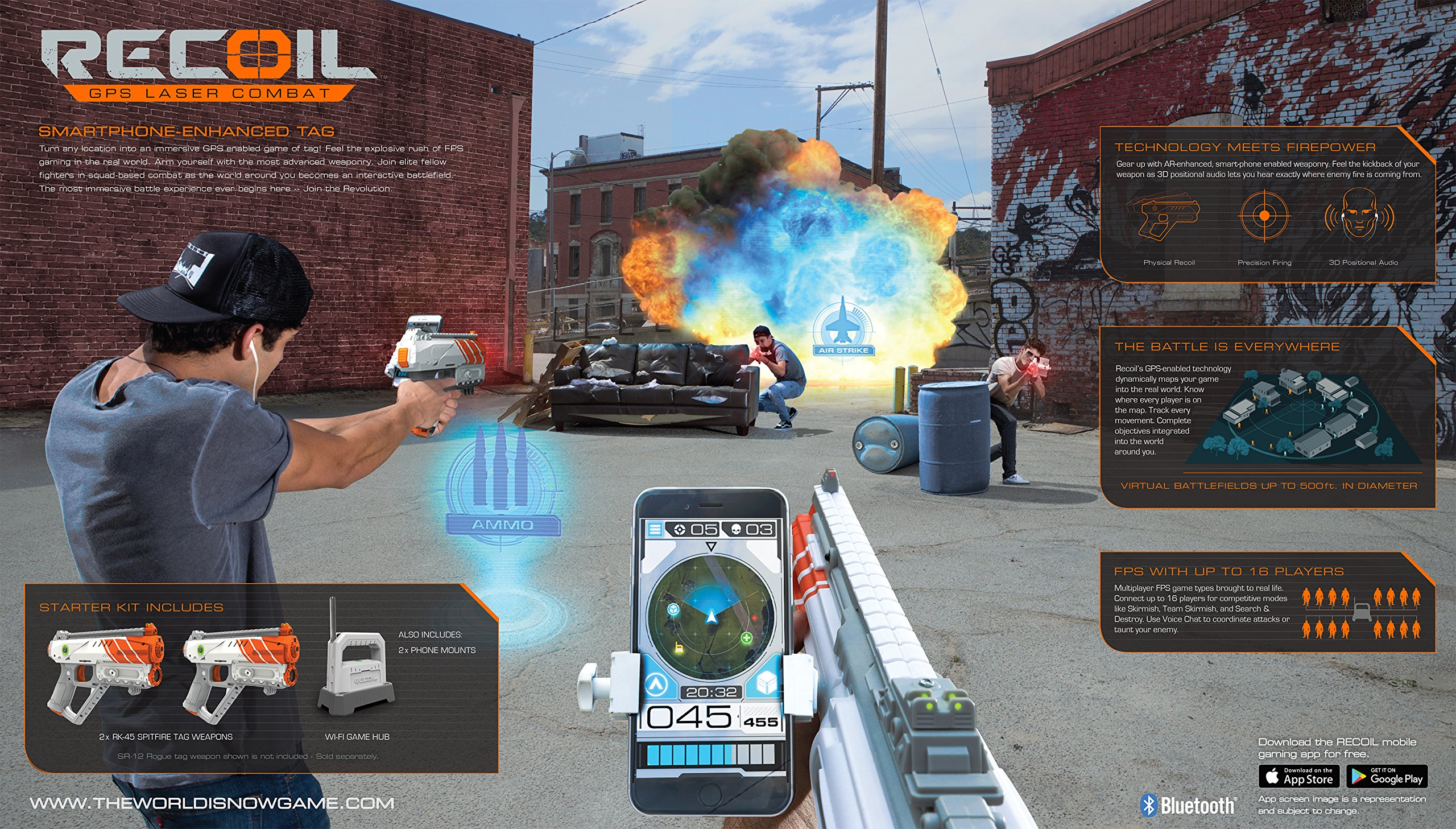 Recoil Laser Tag Starter Set, GPS enabled Multi-Player Smartphone Game by Recoil (Image #4)