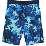 23ebee6e0d LAGUNA Mens Hibiscus Print Stretchable Camo Elastic Boardshort Swim Trunks
