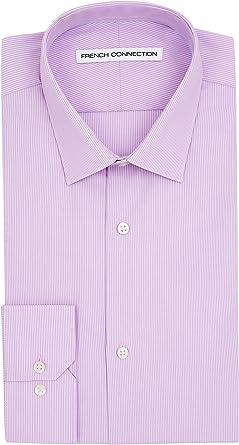 French Connection camisa de puño Slim Fit lila única rayas en ...
