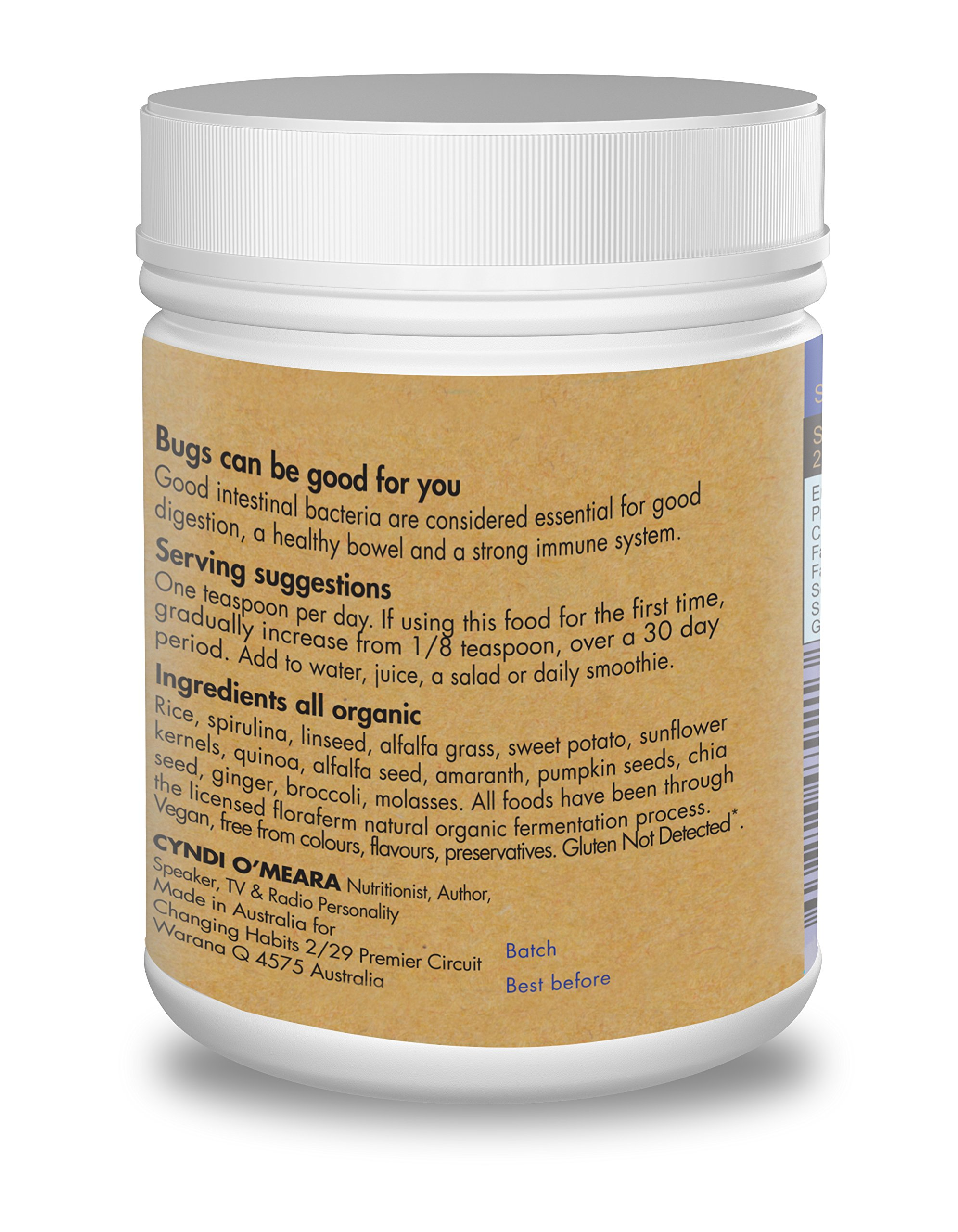 Organic Probiotic Powder With Prebiotic Fiber. 60+ Servings! Soothing, Great Tasting Wholefood Vegan Probiotics and Prebiotics For Women, Men and Kids by Changing Habits (Image #7)