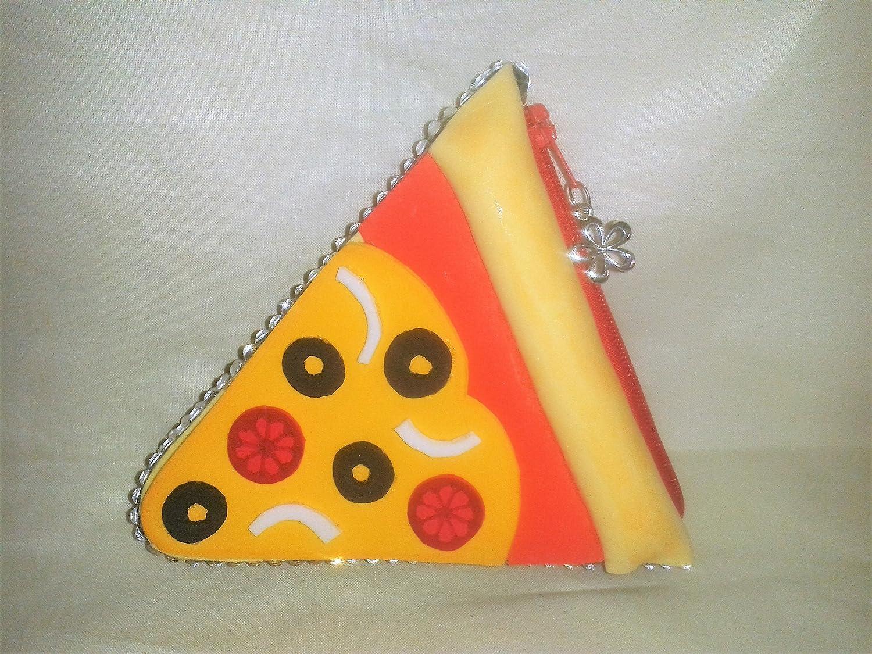 Monedero porción de pizza: Amazon.es: Handmade