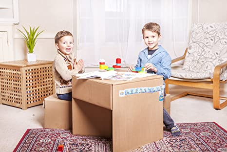 Aibox set tavolo e sgabello per bambini cardboard kids mini set