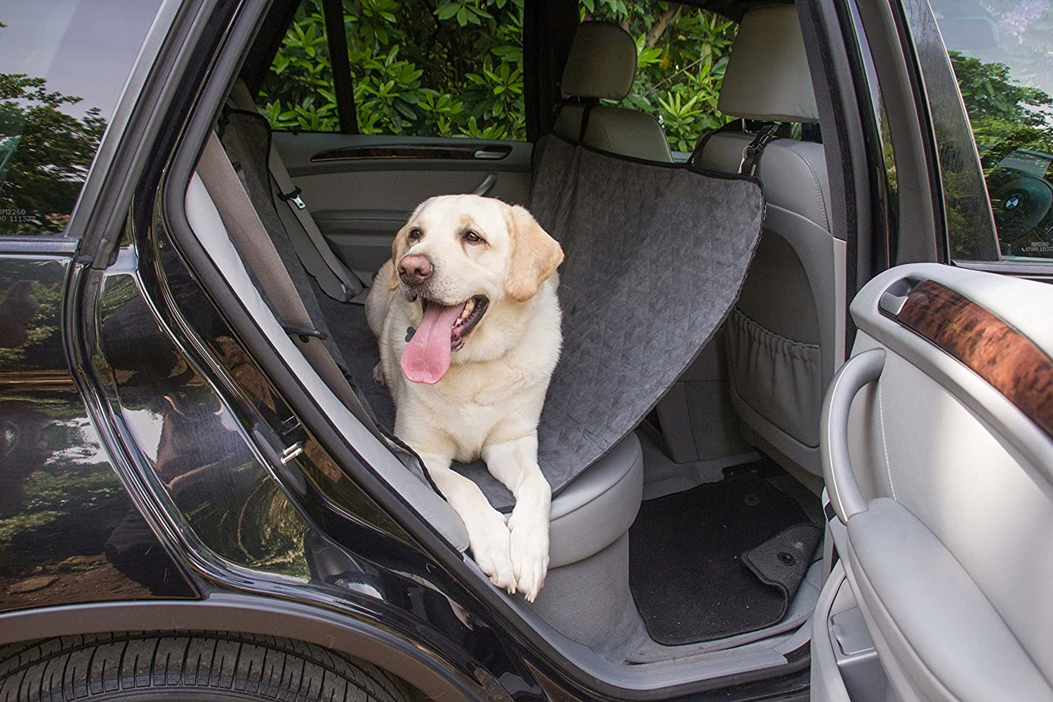 Pets Finest Deluxe Quality Luxury Dog Pet Kids Car Seat Cover Back Rear Seat Protector /& Hammock Made Of Soft /& Durable Suede Anti-Slip /& Scratch Resistant Proof