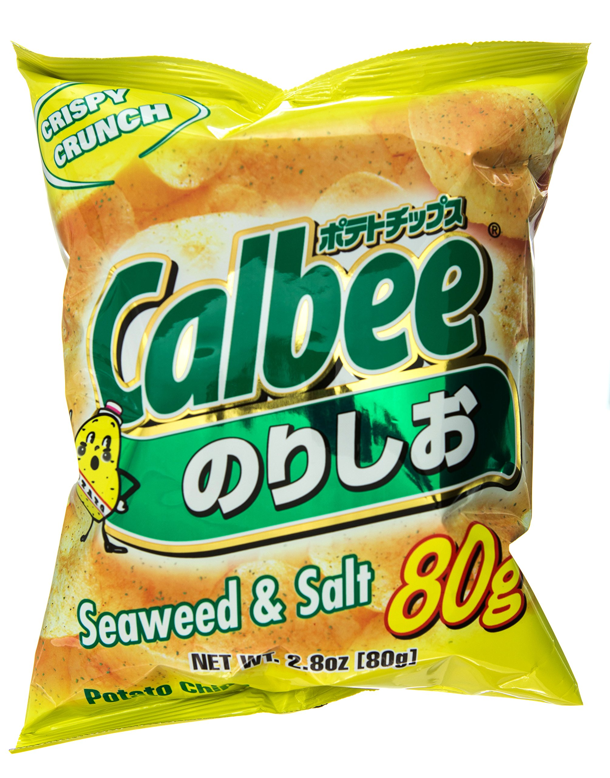 Calbee Potato Chips Seaweed/Salt, 2.8-Ounce Units (Pack of 12) by Calbee